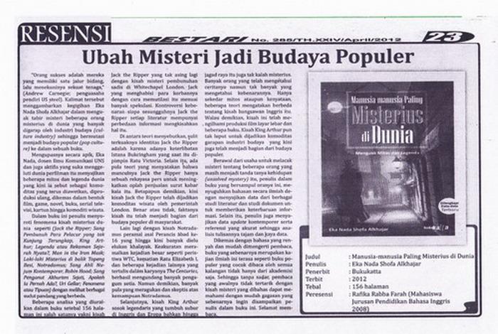 Contoh Artikel Contoh Artikel Ilmiah Populer Di Koran